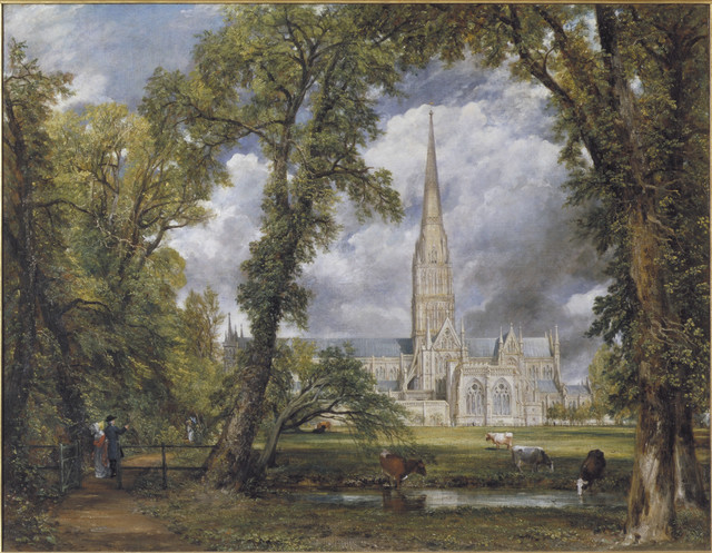 , 'Salisbury Cathedral from the Bishop's Ground,' 1823, Victoria and Albert Museum (V&A)