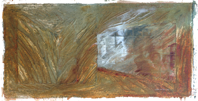 , 'Aerial Landscape II,' 2000, Mixografia