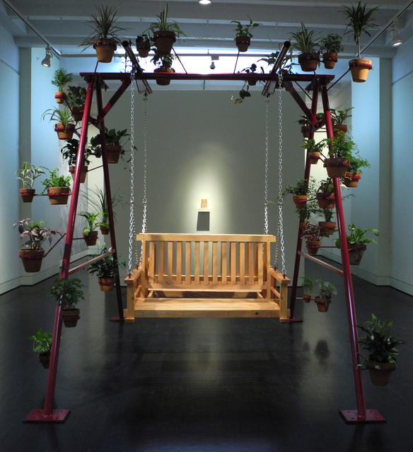 Workingman Collective, 'Swing', 2011, Installation, Steel, fir, powdercoat, clay pots and assorted houseplants, Hemphill Artworks