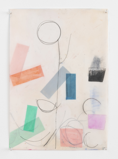 Vicki Sher, 'Spring', 2018, Painting, Oil pastel and pencil on drafting film, FROSCH&CO