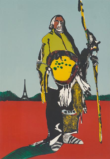 Fritz Scholder, 'Indian in Paris', 1976, Larsen Gallery
