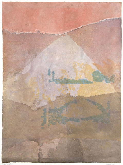 Lee Hall, 'LOST MOUNTAIN', 1976, Drawing, Collage or other Work on Paper, Watercolor on Rice Paper, Jerald Melberg Gallery