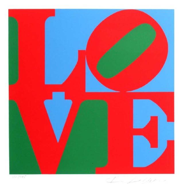 Robert Indiana, 'Love (Red Green Blue)', 1997, Kunzt Gallery