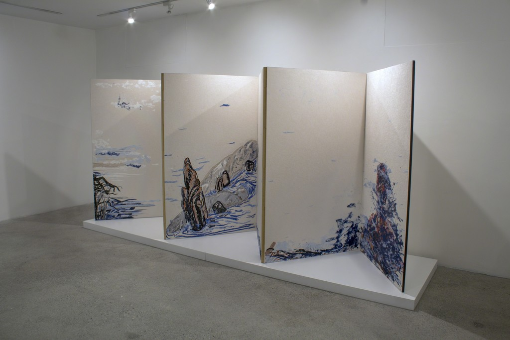Daniel Heyman, The Japanese Screen Project: Distance, Byobu