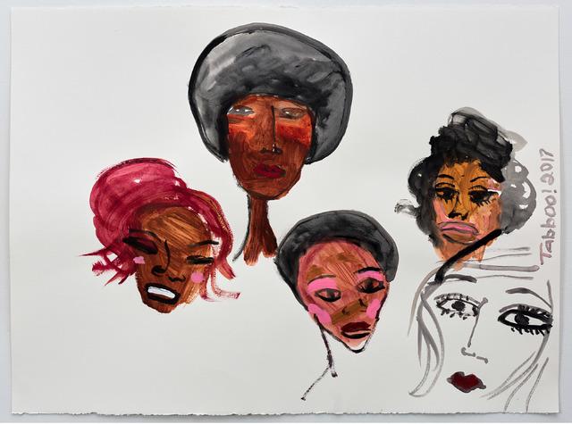 , 'Five Figures,' 2017, Albert Merola Gallery