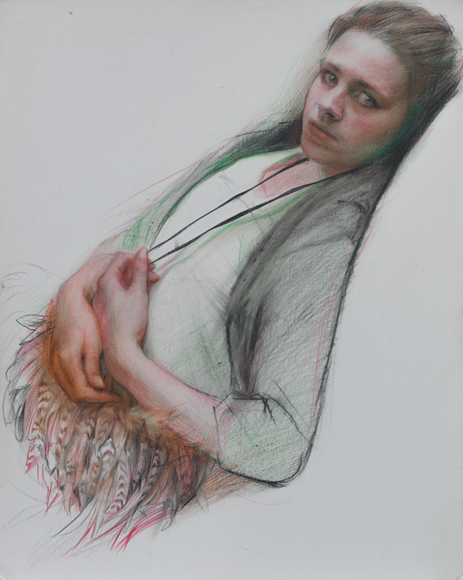 , 'Nicole with Feathered Purse,' 2009, Forum Gallery
