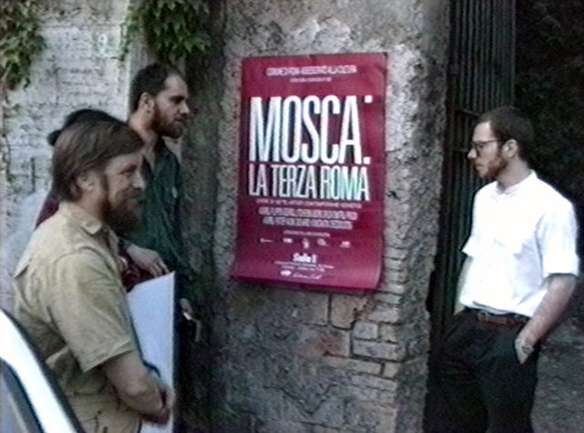Vadim Zakharov, 'Boris Orlov, Andrei Filippov, and Andrei Roiter at the entrance to Sala 1 exhibition space in Rome at the opening of Moscow: The Third Rome, May 24, 1989', 1989, Garage Museum of Contemporary Art