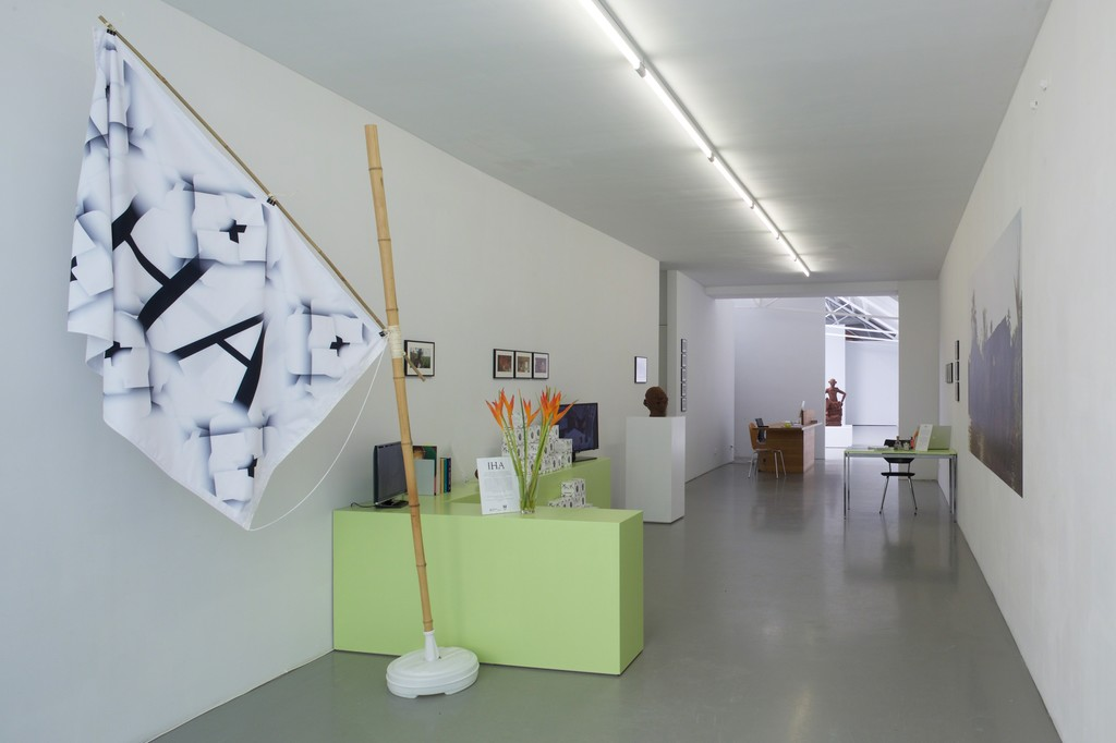 Renzo Martens and the Institute for Human Activities, 'A New Settlement', exhibition overview, Galerie Fons Welters 2015