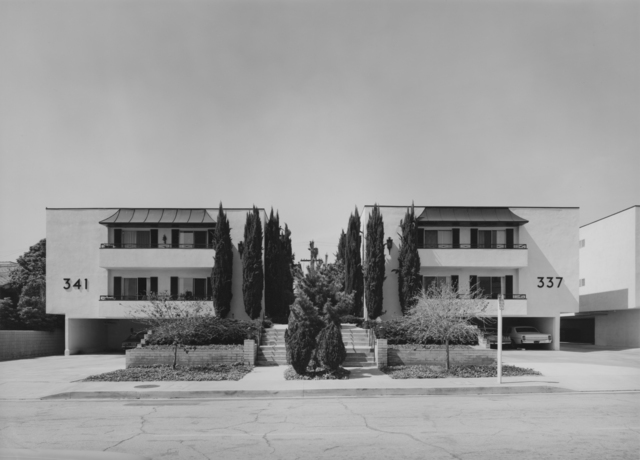 Bevan Davies, 'Apartment Houses near Hollywood, CA', 1976, Photography, Vintage ferrotyped gelatin silver print, Joseph Bellows Gallery