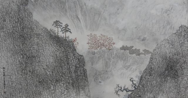 Guan Zhi, 'Peach Shangri-la Blooming', 2019, Michael Goedhuis