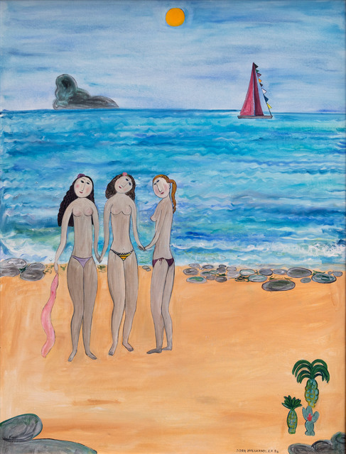 Dora Holzhandler, 'Sisters By the Sea', 1984, Painting, Oil on canvas, Goldmark Gallery