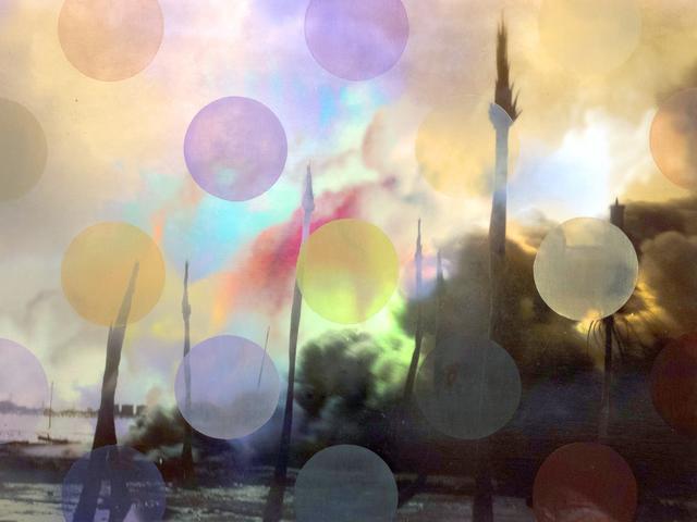 Sarah Nind, 'Pistes et Points - Palm 4', 2015, Newzones