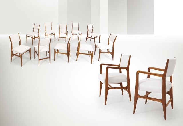 Gio Ponti, 'twelve chairs, Cassina', ca. 1950, Cambi