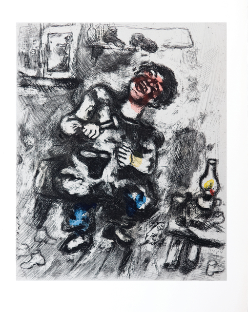 Marc Chagall, 'The Cobbler and the Financier', 1952, Print, Etching with hand colouring, Goldmark Gallery