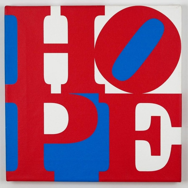 , 'Red/ White/ Blue HOPE,' 2008, Woodward Gallery