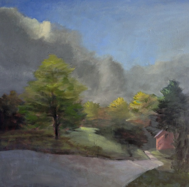 , 'Red House in Cloud Bank,' 2016, Bowersock Gallery
