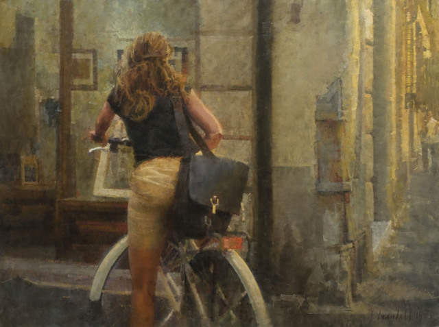 , 'Woman at Gallery Window,' , Abend Gallery