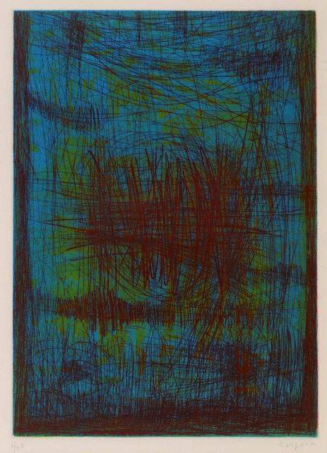 Antonio Corpora, 'Compositions Abstraites Réunion De Deux Eaux-Fortes Et Aquatintes Couleur', Leclere