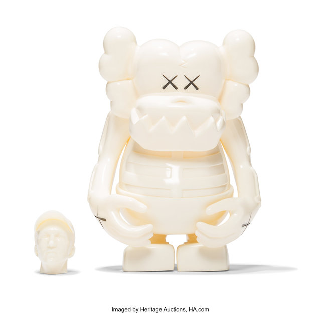 KAWS, 'Skull Kun (White)', 2006, Sculpture, Painted cast vinyl, Heritage Auctions