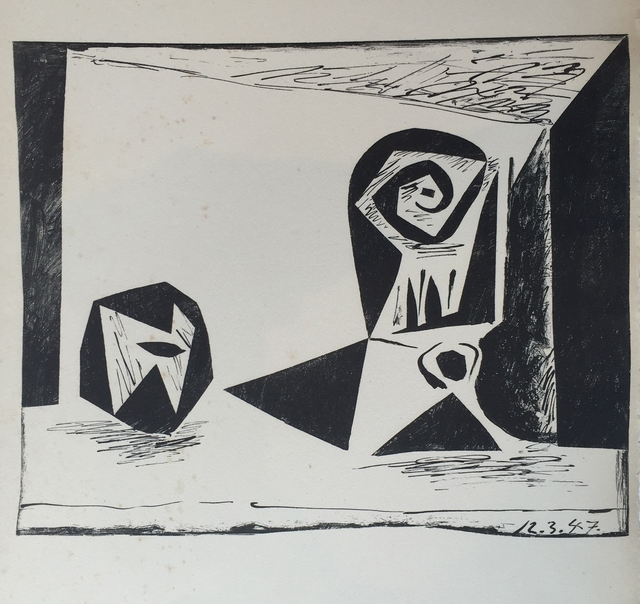 Pablo Picasso, 'Composition au Verre à pied', 1947, Lithograph printed in black, Frederick Mulder