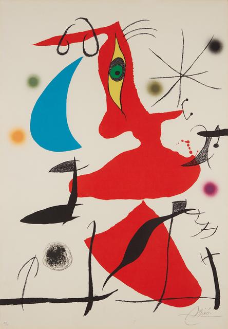 Joan Miró, 'Oda à Joan Miró (Ode to Joan Miró): plate VII', 1973, Phillips