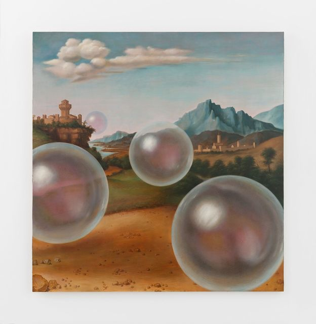 Laurent Grasso, 'Studies into the Past', Painting, Oil on wood, Perrotin