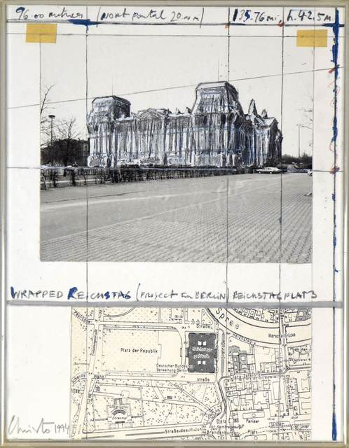 , 'Wrapped Reichstag (Project for Berlin),' 1994, Stern Pissarro