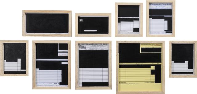 , 'Conjunto de pinturas burocráticas No. 3,' 2013, SIM Galeria