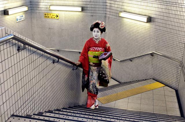 , 'GEISHA IN SUBWAY, KYOTO, JAPAN, 2007,' 2007, Huxley-Parlour