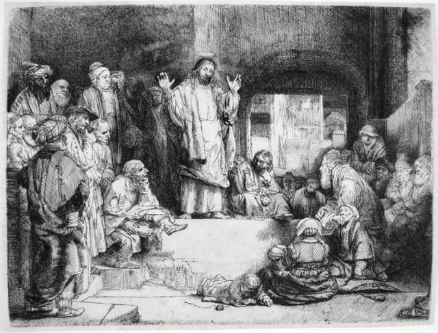 ", 'Christ Preaching (""La Petite Tombe""),' ca. 1657, Harris Schrank Fine Prints"