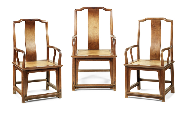 ", 'Set of three ""southern official's"" armchairs,' 17th century, Liang Yi Museum"