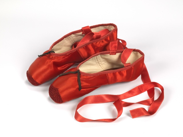 , 'Red ballet shoes made for Victoria Page (Moira Shearer) in The Red Shoes (1948),' 1948, Victoria and Albert Museum (V&A)