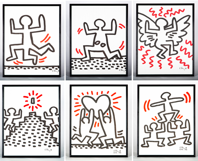Keith Haring, 'The Bayer Suite', 1982, Print, Ink, paper, Artificial Gallery
