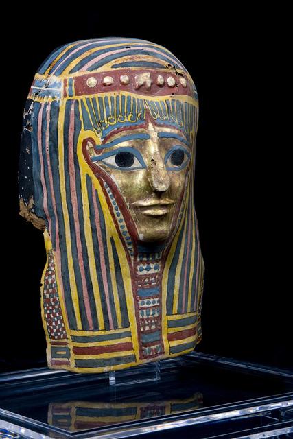 , 'Máscara egipcia en cartonnage con la carnación al oro,' , Muzeion Gallery