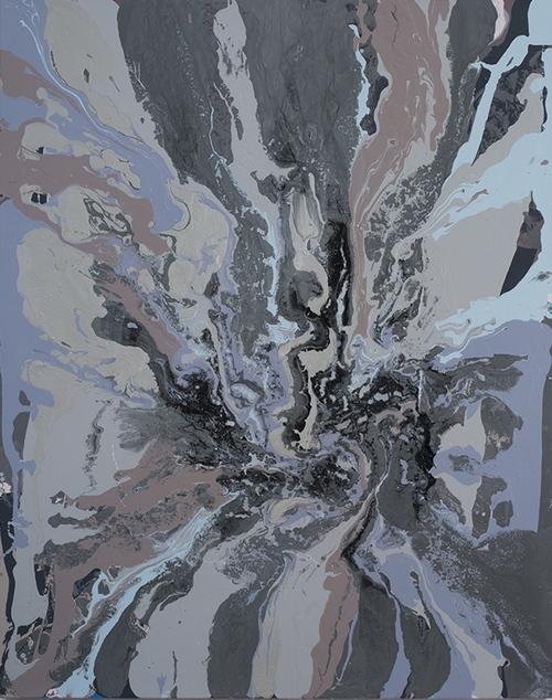 , 'gunmetalgreybrownblue pour,' 2012, Heather Gaudio Fine Art