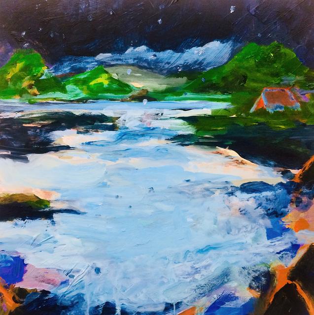 Cathy Ellis, 'Blue Night', 2019, Painting, Acrylic on panel, Open Mind Art Space