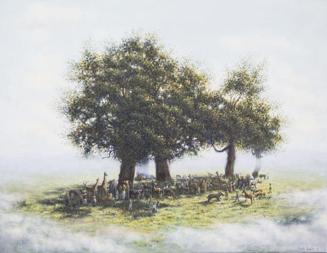 , 'Reunion (Tribute to Théodore Rousseau),' 2016, Galerie Dumonteil