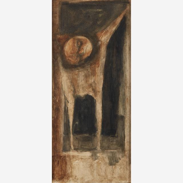Jose Luis Cuevas, 'El Ahorcado', 1960, Painting, Tempera on paper laid down to paperboard., Freeman's