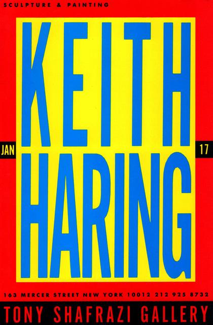 Keith Haring, 'Keith Haring at Tony Shafrazi 1987 (announcement) ', 1987, Lot 180