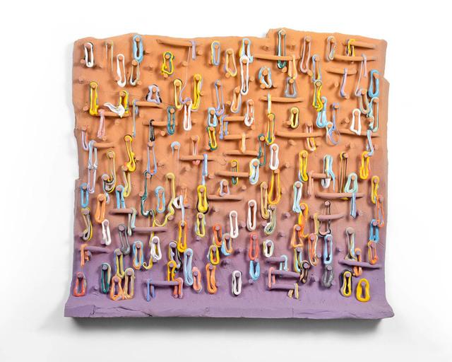 Lauren Mabry, 'Loopy Peg Painting (Orange & Purple)', 2019, Ferrin Contemporary