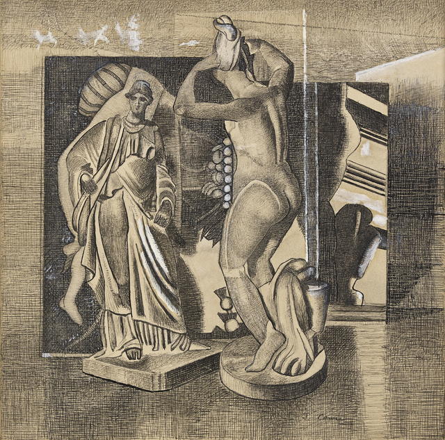 , 'Tanagra Figures (Planes and Figures),' ca. 1947, The Scottish Gallery