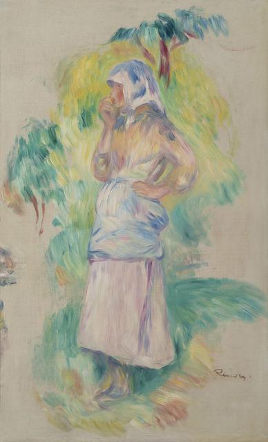 Pierre-Auguste Renoir, 'Jeune fille mangeant une pomme, Gabrielle Dufour - fragment', ca. 1891, HELENE BAILLY GALLERY