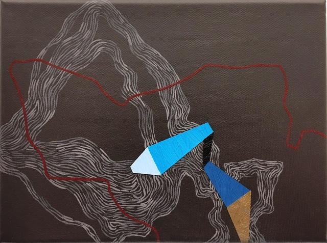 , 'Blue direction line,' 2015, Faur Zsofi Gallery