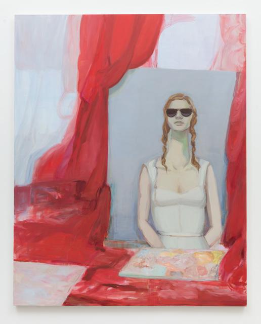 , 'Portrait (Red Curtain),' 2018, Anat Ebgi