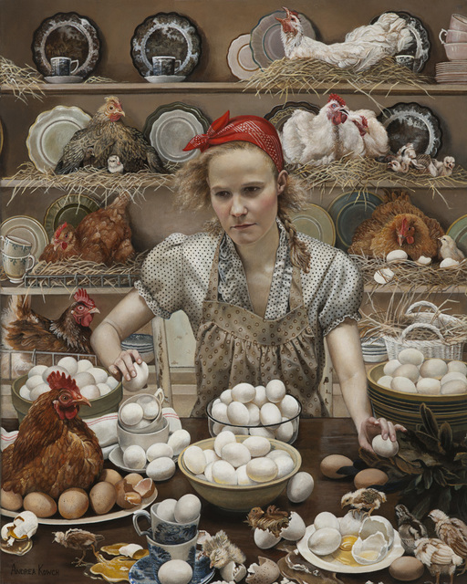 Andrea Kowch, 'Pecking Order-Limited Edition Signed Print', 2014, RJD Gallery