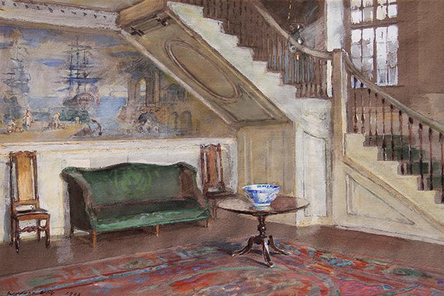 Walter Gay, 'Entrance Hall, Moffatt-Ladd House', 1923, Mark Murray Fine Paintings