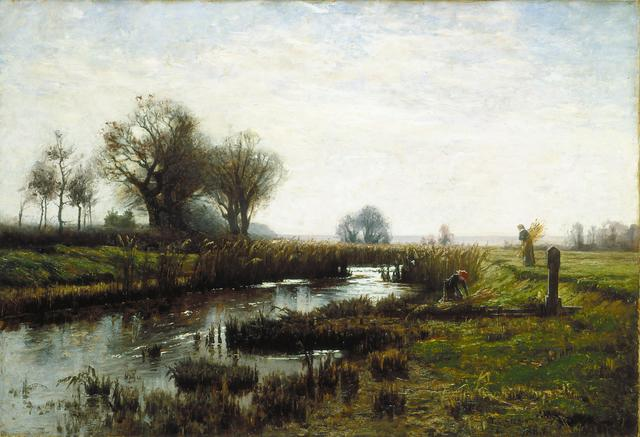 """Theodore Clement """"T.C."""" Steele, 'Late Afternoon, Dachau Moor', 1885-1885, Painting, Oil on canvas, Indianapolis Museum of Art at Newfields"""