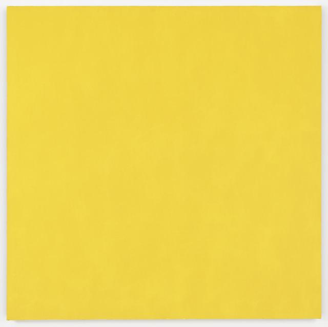 , 'Mass Tone Paintings: Hansa Yellow, March 12, 1974,' 1974, Richard Taittinger Gallery