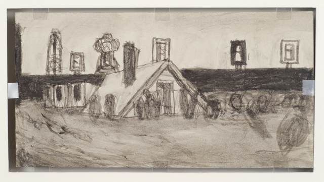 , 'Untitled (Farm buildings/house in flood),' n.d., Fleisher/Ollman