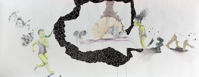 , 'Chasing relentlessly after fading things – The Birth of BLACK, audre marries its indigenous self – Shadows validate existence (ada and Twin find ground),' 2014, Goodman Gallery